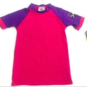 🎈NWT Girls Rash Guard Shirt Size 4 Short Sleeve